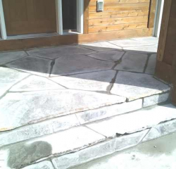 Landscaping Project - Steps and entryway