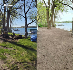 Before and After Landscape Pictures - Detroit Lakes, Minnesota
